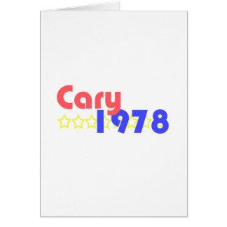 Cary 1978 hälsningskort