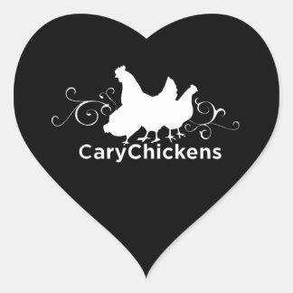 Cary blir rädd hjärtaklistermärken hjärtformat klistermärke