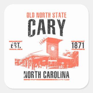 Cary Fyrkantigt Klistermärke