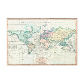 Cary karta 1801 av kanfasen värld/36x24 canvastryck