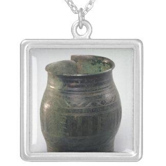 Cask formad armbindel, Hallstatt kultur Silverpläterat Halsband
