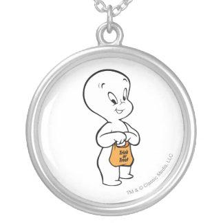 Casper bus eller godis silverpläterat halsband
