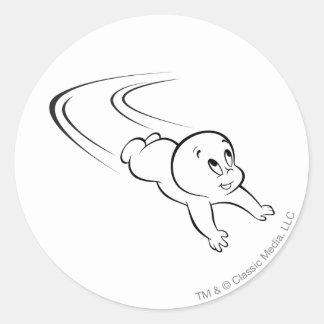 Casper flyg runt klistermärke