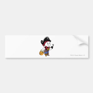 Casper i piratdräkt bildekal