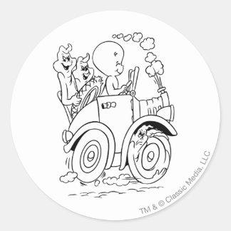 Casper körning runt klistermärke