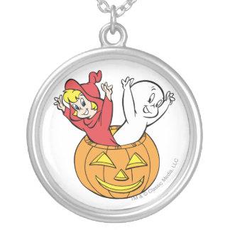 Casper och Wendy i pumpa Silverpläterat Halsband