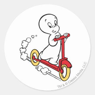 Casper ridningsparkcykel runt klistermärke