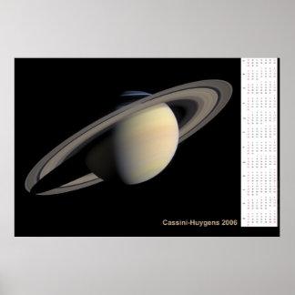 Cassini-Huygens 2006 kalender Poster
