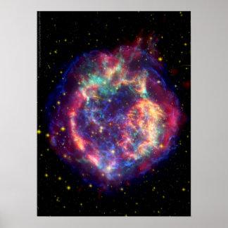 Cassiopeia en Supernova… död blir henne Poster