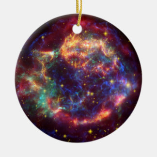 Cassiopeiakonstellation Rund Julgransprydnad I Keramik