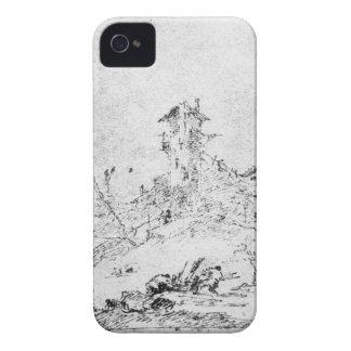Castel Cogolo per Andar en Trento (skriva & bläck iPhone 4 Cases