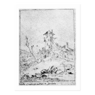 Castel Cogolo per Andar en Trento (skriva & bläck Vykort