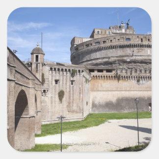 Castel Sant'Angelo placeras nära vaticanen, 3 Fyrkantigt Klistermärke
