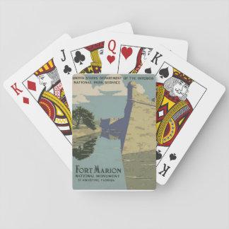 Castillo de San Marcos som leker kort Spel Kort