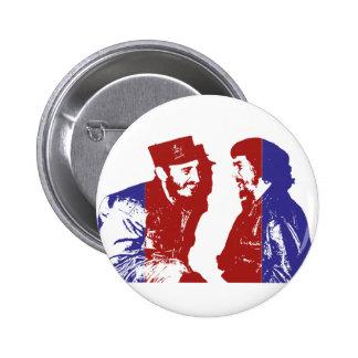 Castro och Che Standard Knapp Rund 5.7 Cm