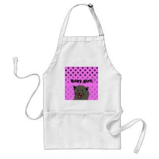 Cat_polka dot_baby girl_pink_desing förkläde