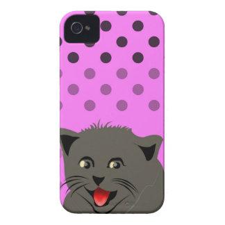 Cat_polka dot_baby girl_pink_desing iPhone 4 hud