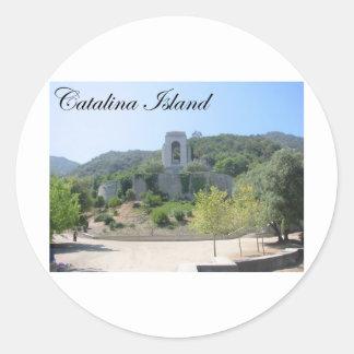 Catalina ö 2 rund klistermärke