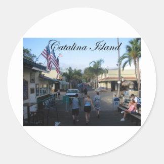 Catalina ö 6 runda klistermärken