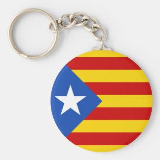 Catalonia Estrellada flagga Keychain Rund Nyckelring