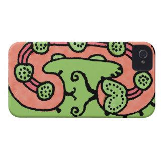 Caterpillar drömma (korall/grönt) iPhone 4 skal