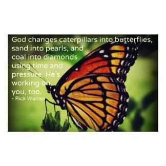 Caterpillars in i fjärilar brevpapper