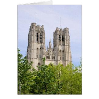 Cathédrale St Michel & Gudule, Bryssel, Belgien Hälsningskort