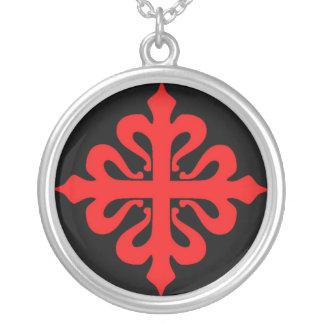 Catholicum Encolpium de Milis Calatravae Silverpläterat Halsband
