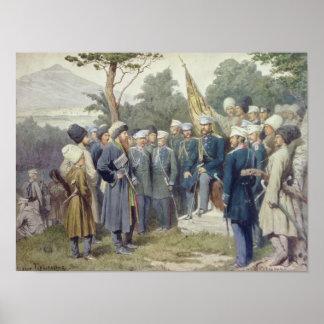 Caucasian ledare Shamil Poster