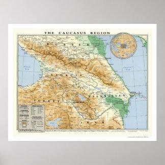 Caucasus regionkarta 1994 poster