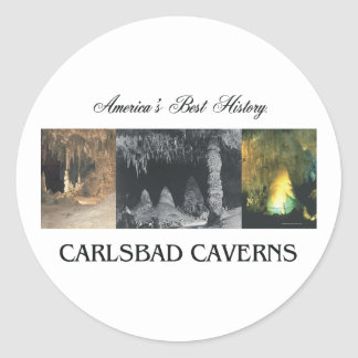 Caverns för ABH Carlsbad Runt Klistermärke