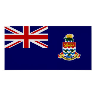 Cayman Islands - Caymanian flagga Poster