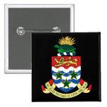 Cayman Islands emblem Standard Kanpp Fyrkantig 5.1 Cm