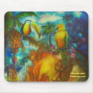 CBjork ÖTiki Lava med fåglar Musmatta