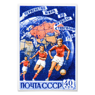 CCCP-fotboll Fototryck
