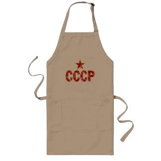 CCCP (ha på sig look) Långt Förkläde