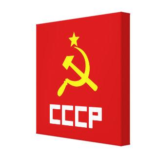CCCP slågen in kanfas Kanvasduk Med Gallerikvalitet