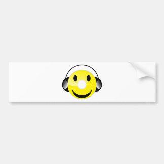 CD Smiley Bildekal