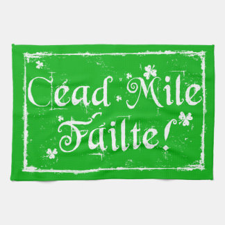 Céad MileFáilte kök räcker handduken Kökshandduk