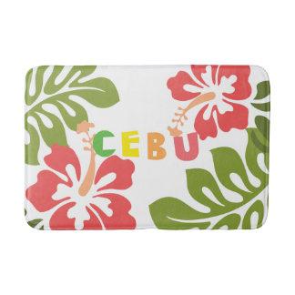 Cebu Philippines på tropiska hibiskusblommor Badrumsmatta