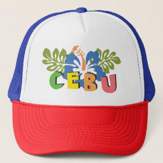Cebu Philippines på tropiska hibiskusblommor Keps