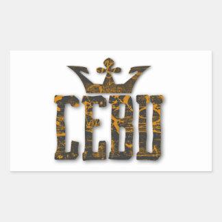 Cebu royalty rektangulärt klistermärke