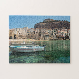 Cefalu town i Sicily Pussel