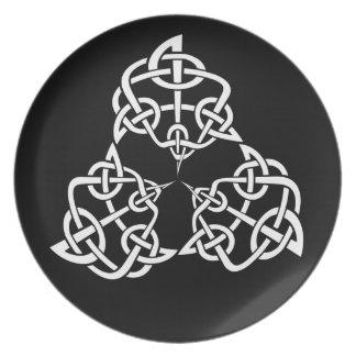 Celtic 4 pekar fnurran, trippel tallrik
