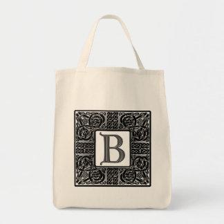 """Celtic """"b-"""" Monogram för silver Mat Tygkasse"""