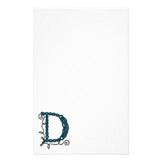 Celtic brevpapper för brev D