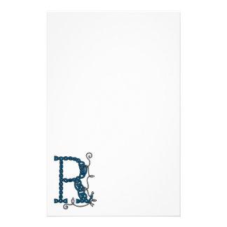 Celtic brevpapper för brev R