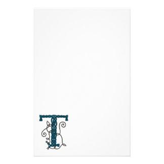 Celtic brevpapper för brev T