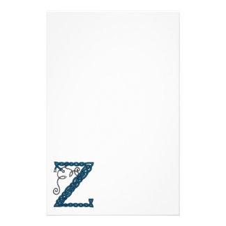 Celtic brevpapper för brev Z