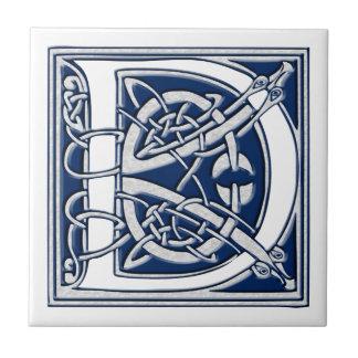 Celtic D-Monogram Kakelplatta